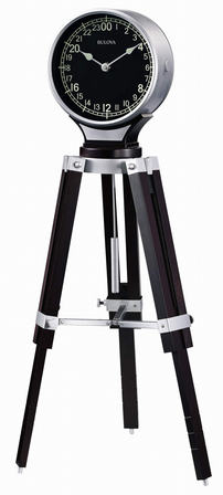 Corsair Tripod Table Clock by Bulova
