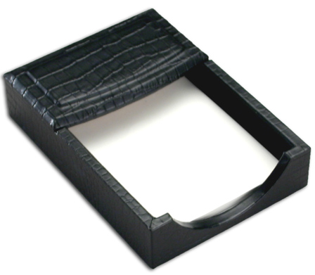 """Crocodile Embossed Leather 4"""" x 6"""" Memo Holder - Discontinued"""