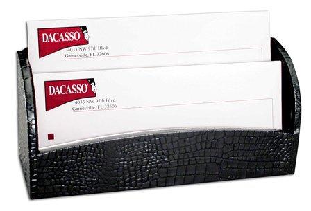 Crocodile Embossed Leather Letter Holder