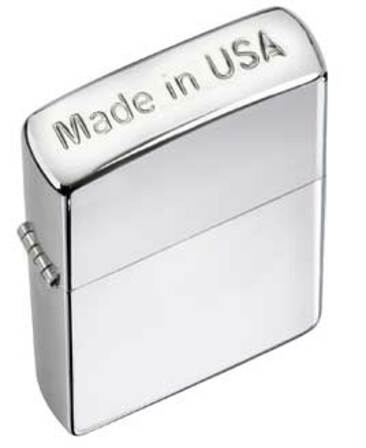 Crown Stamp (Made in USA) High Polish Chrome Zippo Lighter - ID# 24796 - Discontinued