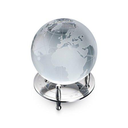 Crystal Desktop Globe & Stand by Dalvey