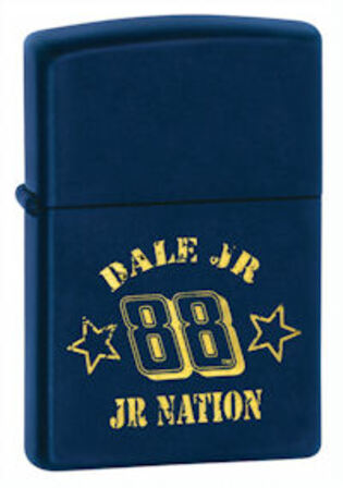 Dale Jr. Nation Navy Matte Zippo Lighter - ID# 24694 - Discontinued