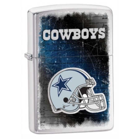 Dallas Cowboys NFL Brushed Chrome Zippo Lighter - ID# Z712