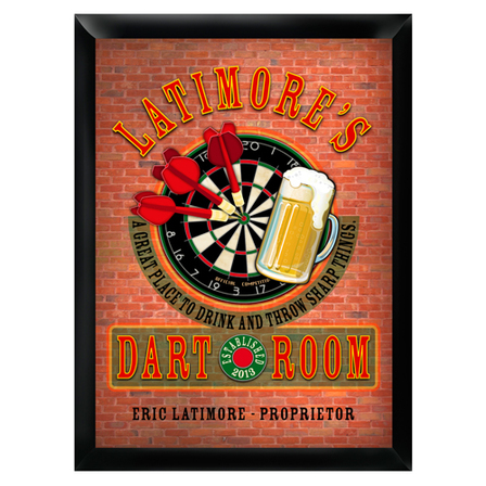 Dart Room Pub Sign - Free Personalization