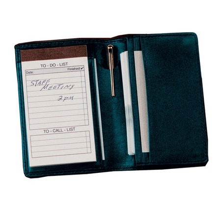 Deluxe Note Jotter & Organizer in Top Grain Napa Leather