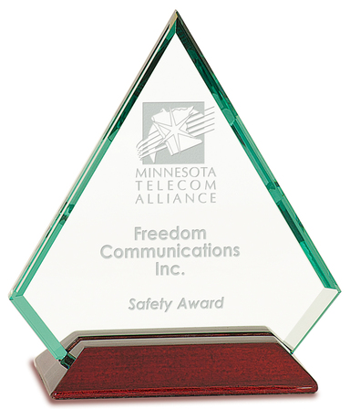 Diamond Jade Glass & Mahogany Award
