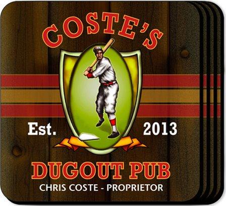 Dugout Coaster Set - Free Personalization