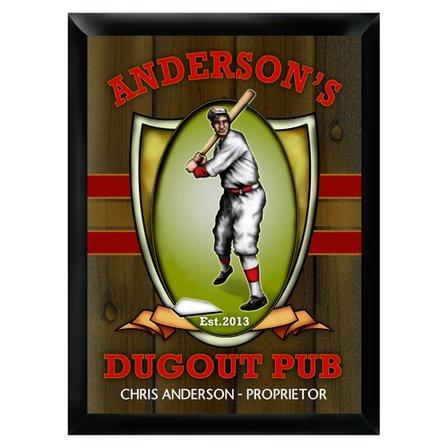 Dugout Pub Sign - Free Personalization