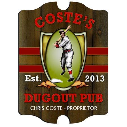 Dugout Vintage Pub Sign - Free Personalization