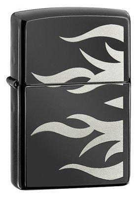 Ebony Flames Zippo Lighter