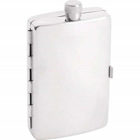 Engraved Flask & Cigarette Case