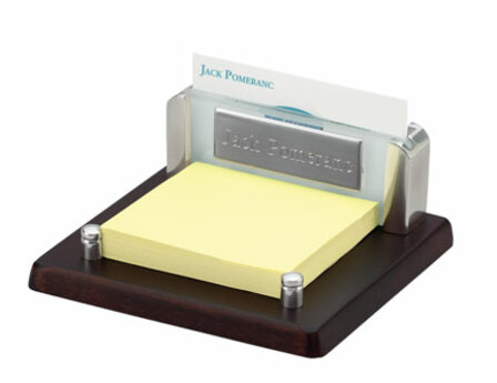 Espresso Business Card & Post-It Holder