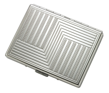 "Etched ""S"" Design Single Sided Design Cigarette Case for Kings and 100s"