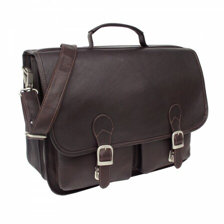 Executive Two Pocket Laptop Portfolio by Piel Leather - Free Personalization
