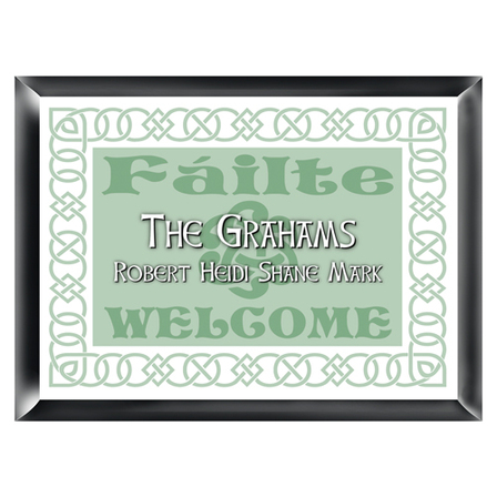 Failte Irish Family Sign - Free Personalization