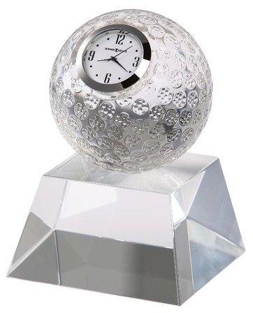 Fairway Crystal Golf Ball Clock by Howard Miller