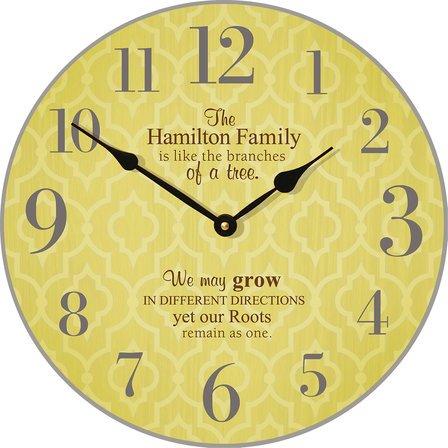 Family Tree Personalized Wall Clock
