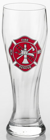 Firefighter's Pilsner Glass
