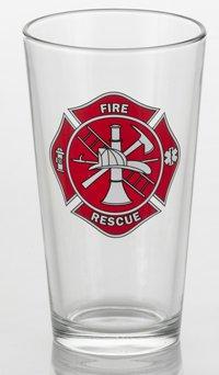 Firefighter's Pint Glass