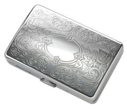 Fleur-De-Lis Engravable Cigarette Case for Kings