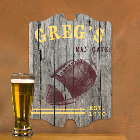 Football Vintage Man Cave Sign - Free Personalization