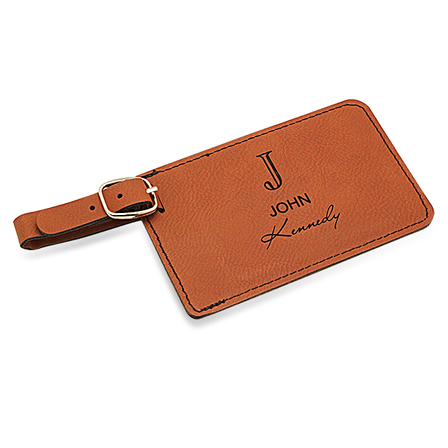 Full Name Monogram Rawhide Luggage Tag