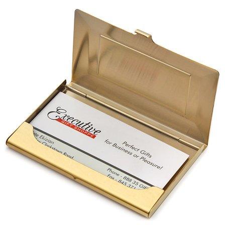 Brass Frame Style Engraved Business Card Holder