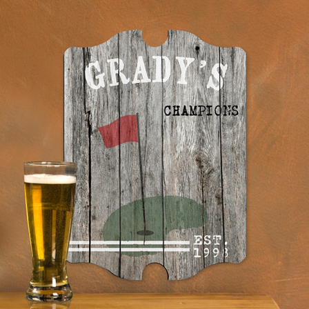 Golf Vintage Man Cave Sign - Free Personalization