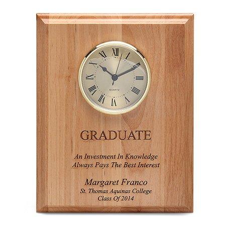 Graduate Theme Recognition Wall Clock & Plaque