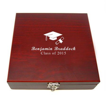 Cap & Gown Graduates Flask & Gaming Set