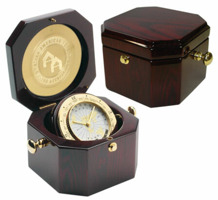 Grand Admiral Mahogany Finish Chest Clock