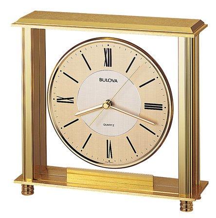 Grand Prix Metal Table Clock by Bulova