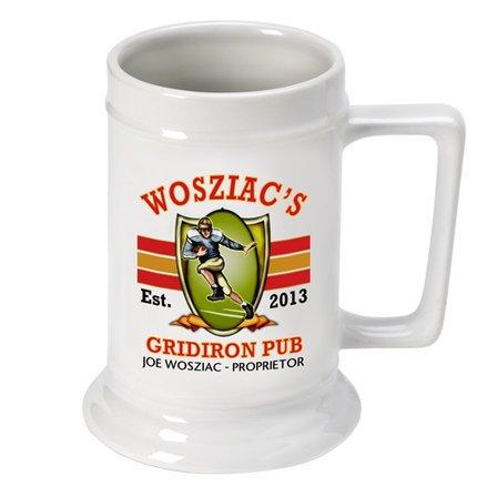 Gridiron German Beer Stein - Free Personalization