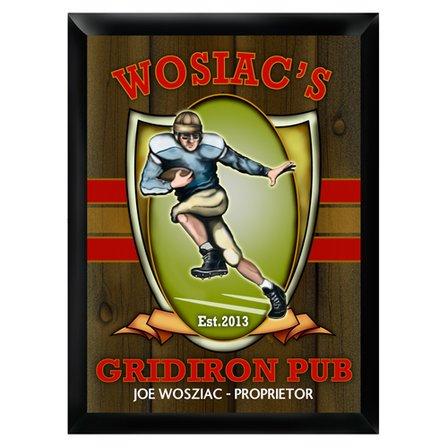 Gridiron Pub Sign - Free Personalization