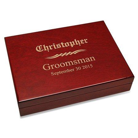 Groomsman's Gift Piano Finish 30 Cigar  Humidor
