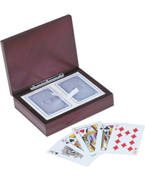 Groomsman's Gift  Rosewood Finish Playing Card Box