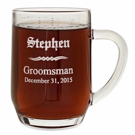 Groomsmen Gift  20 Ounce Barrel Mug with Handle