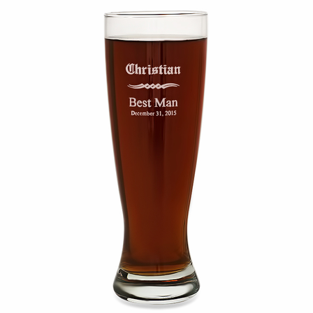 Groomsmen Gift  22 Ounce Grand Pilsner Glass