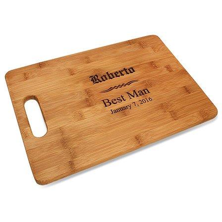 Groomsmen Gift Bamboo Cutting Board With Handle