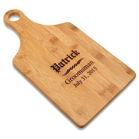 Groomsmen Gift Bamboo Paddle Shape Cutting Board