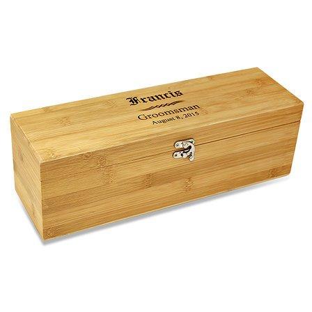 Groomsmen Gift  Bamboo Wine Box