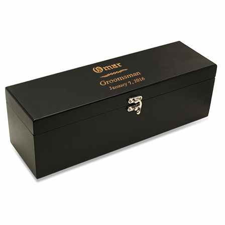 Wedding Party  Black Wine Box