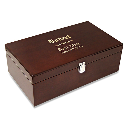 Wedding Party Double Bottle Wine Presentation Box with Tools