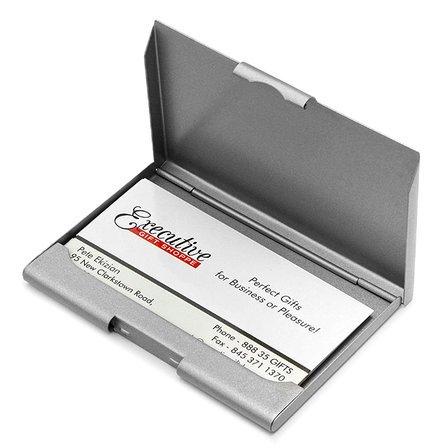 Gunmetal Finish Personalized Business Card Holder