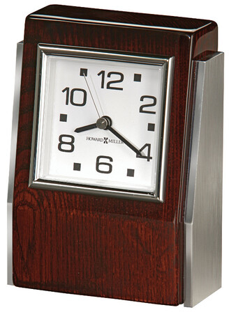 Haddington Rosewood Desk Clock by Howard Miller