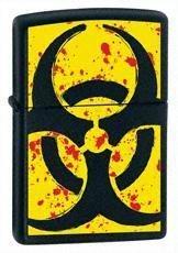 Hazardous Black Matte Zippo Lighter - ID# 24330