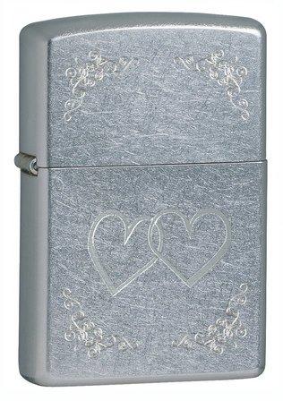 Heart to Heart Street Chrome Zippo Lighter - ID# 24016