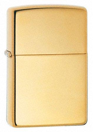 High Polish Brass Engravable Zippo Lighter - ID# 254B