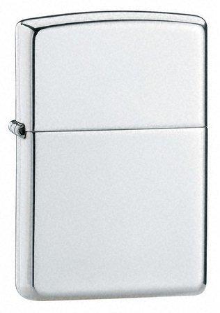 High Polish Sterling Silver Zippo Lighter - ID# 15