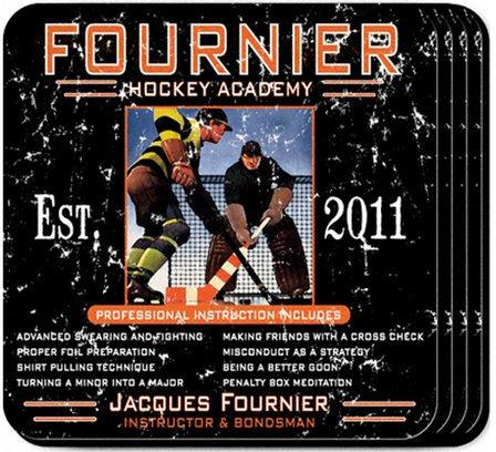 Hockey Academy Coaster Set - Free Personalization